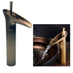 Single Lever Basin Brass Faucet Mixer Mb468 With Two Braided Connecting 450 Mm Table Deck Mount