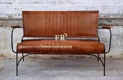 Leather Dining Bench With Back for Resorts & Vacation Villas