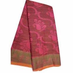 Party Wear Printed Chanderi Silk Saree