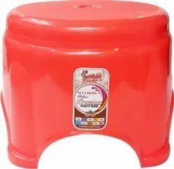 Red Bathroom Stool