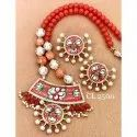 Cl Jewellery Hand Painting Necklace Artificial Jewellery Necklace Set