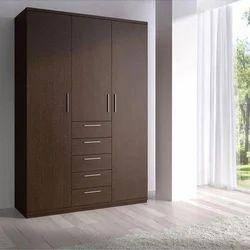 Green Wall Wooden Bedroom Wardrobe, For Office