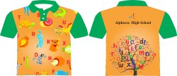 Orange and Green Kids School Uniform with Sublimation
