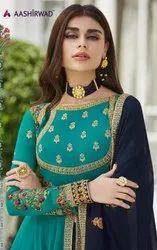 Aashirwad Creation Morbagh Nayra Gown Type Salwar Kameez