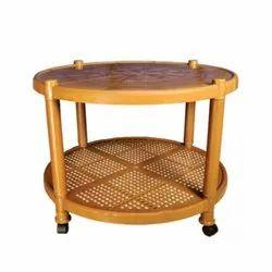 Cello Brown Plastic Round Center Table