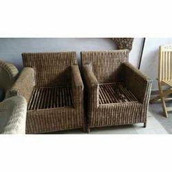 Wooden Cane Weaving Sofa