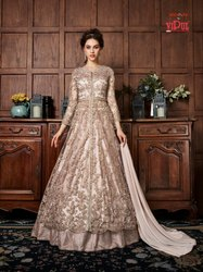 Long Anarkali Gown With Dupatta