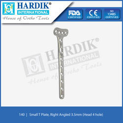 Small T Plate Right Angled 3.5mm (Head 4 Hole)