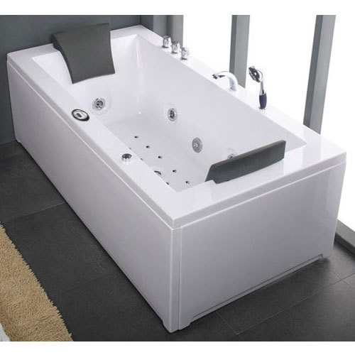 white abs jacuzzi bathtub, 750w, rs 18000 /unit, aroona impex | id