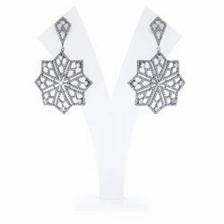 Rainbow Gemstone Diamond Earrings
