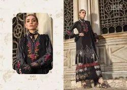 Blue Unstitch Maria B Lawn Vol 2 Fairlady Exports Pakistani Dress Material, Machine wash