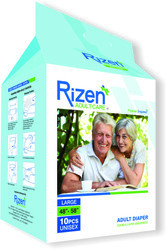 Rizen Adult Diaper-Large (Pack of 10)