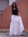100% Organic Cotton Fashion Long Skirts