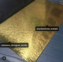 Stainless Steel Gold PVD TI Color Coated Sheet