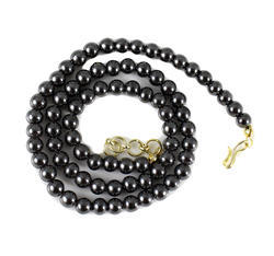 Black Hematite Gun metal 6 mm Round Beads Necklace