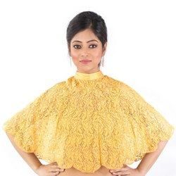 Abhi Fancy Yellow Net Top with Sleeveless Inner