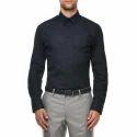 Mens Black Plain Office Shirt, Size: S-xxl