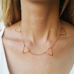 Minimalist Gold Plated Women Handmade Necklace