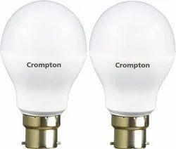 Warm White Round LED Bulb, 6 W - 10 W