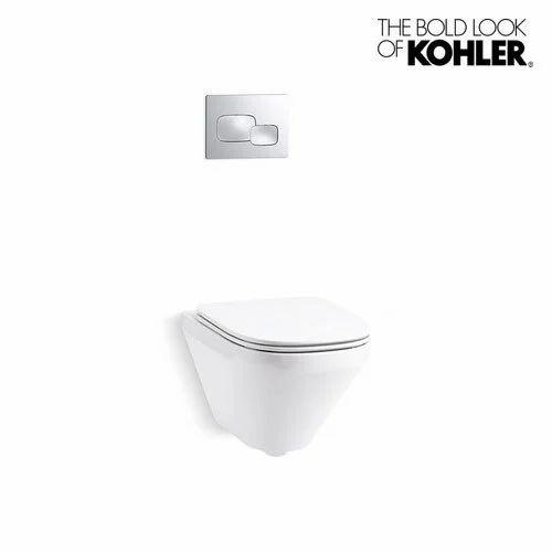 Astonishing White Kohler Modern Life Wall Hung Toilet With Quiet Close Inzonedesignstudio Interior Chair Design Inzonedesignstudiocom