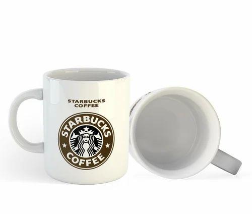 Brown Ceramic Starbucks Coffee Mugs Size 350ml