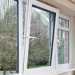 Atlas White UPVC Casement Windows, Glass Thickness: 5 Mm