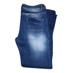 Ruff Knot Jeans Faded Mens Blue Denim Jeans, Waist Size: 26-34