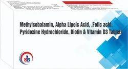 Methylcobalamin Alpha Lipoic Acid Folic Acid Pyridoxine Hydrochloride  Biotin & Vitamin D3 Tablets