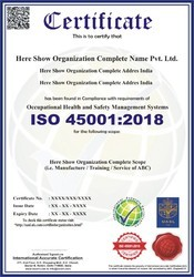 ISO 45001:2018 Certification and Consultancy Service