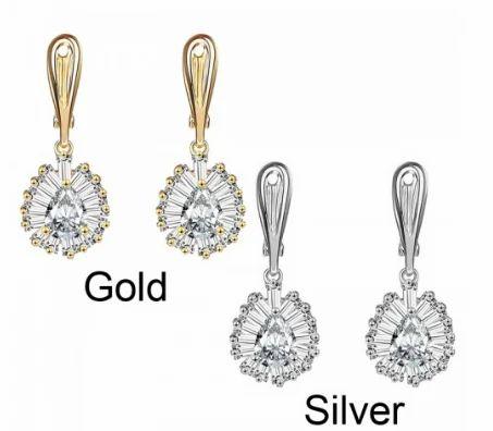 66518f05a5214 American Diamond Earrings - American Diamond Drop Earrings 106164 ...