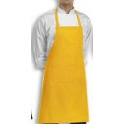 Bib Apron Plain Yellow - Cook Wear House Wear