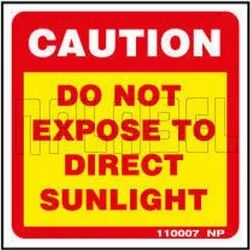 110007 Do Not Expose To Direct Sunlight Warning Sticker