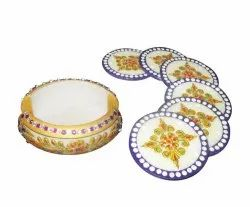 Round Marble Tea Coster