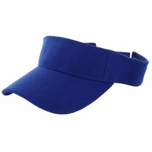 ac47e9fe7de73c Blue Visor Cap, Size: Free Size, Rs 35 /piece, Aryan Enterprise | ID ...