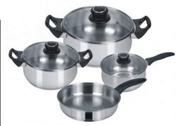 Stainless Steel Capsule 7 Pcs Cookware Set