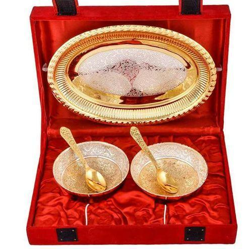 German Wedding Gift Ideas: Gold Silver Custom Brass Silver Plated Wedding Gifts, Rs