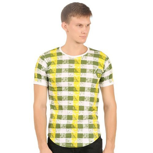 Round Half Sleeve Mens Cotton T Shirt, Size: S to XXL
