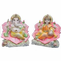 Marble Laxmi Ganesha God Statue