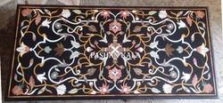 Black Marble Inlaid Table Top
