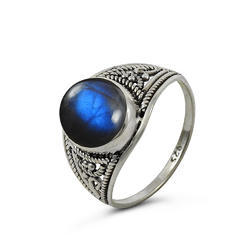 Bloom Fashion Labradorite Gemstone Silver Ring