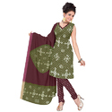 Green Print Bandhej Suit