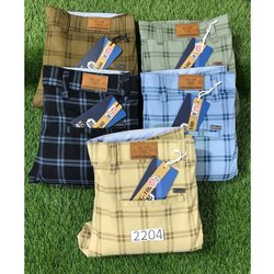 Cotton Check Trousers