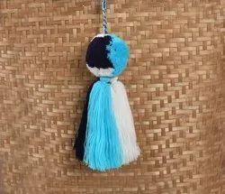 Blue Gorgeous Pom Pom Tassel