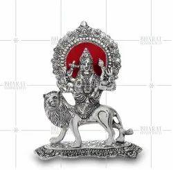 White Metal Durga Murti