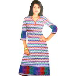 0c5bdf9beaa Cotton And Silk 3 4th Sleeve Kurti