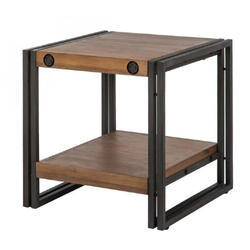 Iron And Wooden Side Table