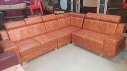 Galaxy Furniture L Shape Leather Sofa Set, Rs 22000 /piece | ID ...