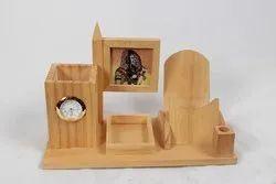 Multi Utility Pine Wood Holder