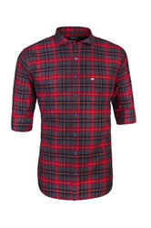 Men Full Sleeve Casual Cotton Checked Shirt