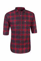Men Cotton Casual Checked Shirt